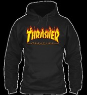 sweater,thrasher shirts,yellow thrasher hoodie,thrasher hoodie,black thrasher shirt