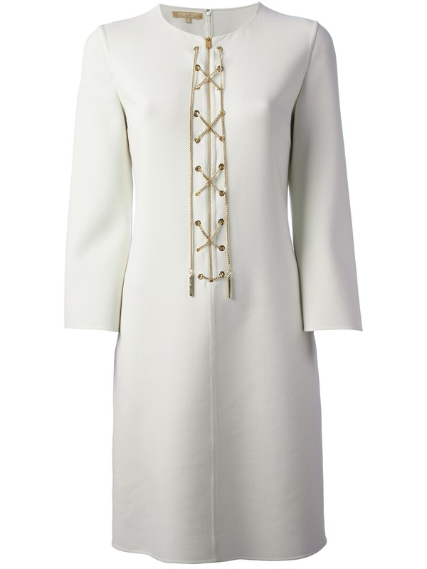 dress michael kors cross zip dress white dress