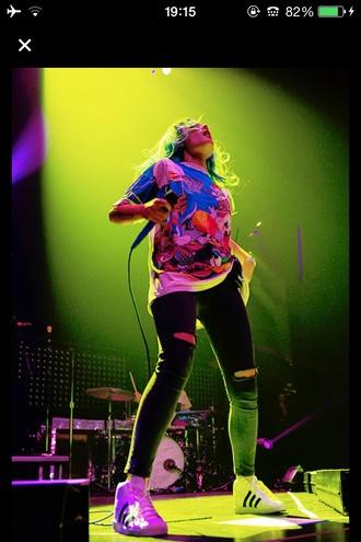 shirt colorful tumblr rainbow red orange yellow green blue purple halsey