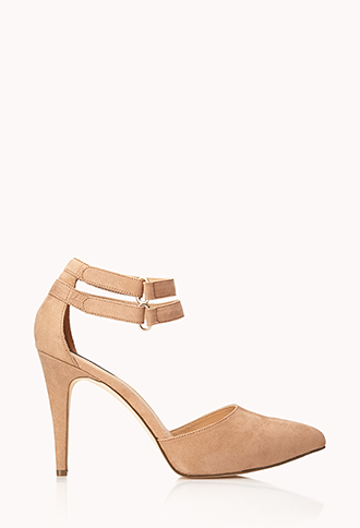 Posh Ankle-Strap Pumps | FOREVER21 - 2000111985