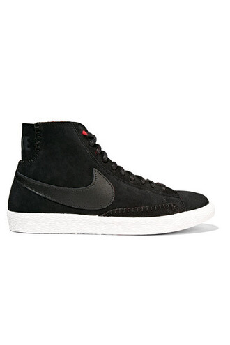 high sneakers suede black shoes