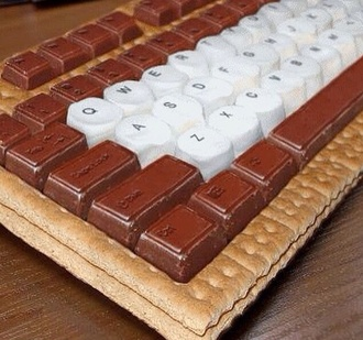 food funny phone case s'more keyboard geek