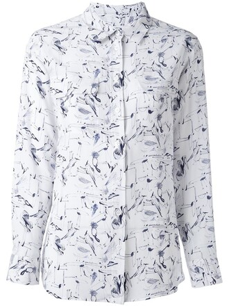 shirt print white top