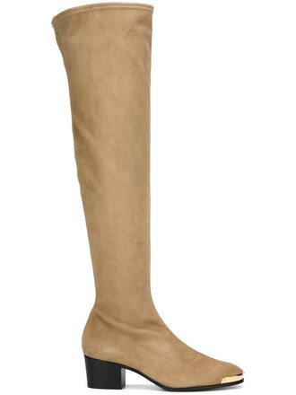 over the knee boots nude shoes