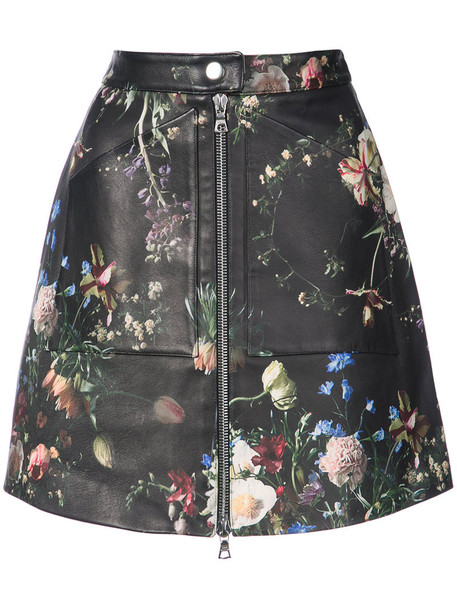 Adam Lippes skirt zip women floral print black