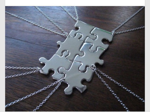 jewels necklace silver chain puzzle necklace puzzle accessories accessories style