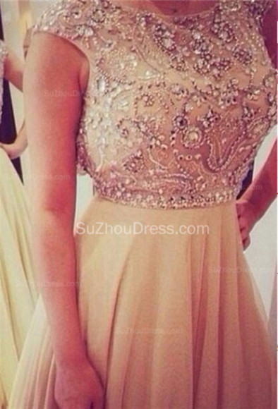 prom dress homecoming dress evening dress see through dress sleeveless dress beading dress rhinestones chiffon prom a-line dress homecoming dress new