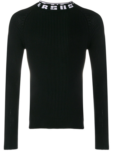 Versus jumper cotton black sweater