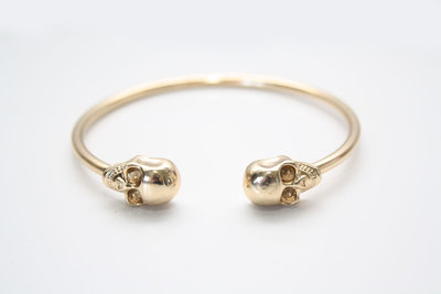 Gold skull cuff bangle bracelet · new spirit boutique · online store powered by storenvy