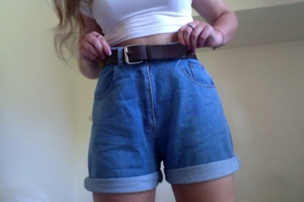 6a28f08337 shorts, high waisted, long, blue, denim, skinny, denim shorts, blue ...