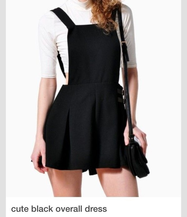 Black dress overalls in season