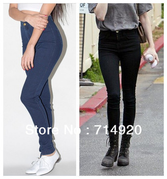 on sale american apparel miley syrus stylish vintage high waist jeans pencil pants skinny jeans