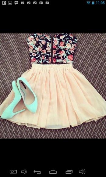 rose sweet skirt beautiful skirt shirt