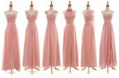 dress,blush pink bridesmaid dress,chiffon long bridesmaid dress,difference style bridesmaid dress,mssu,long bridesmaid dress
