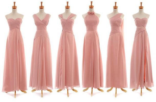 224ca08318 dress blush pink bridesmaid dress chiffon long bridesmaid dress difference  style bridesmaid dress mssu long bridesmaid