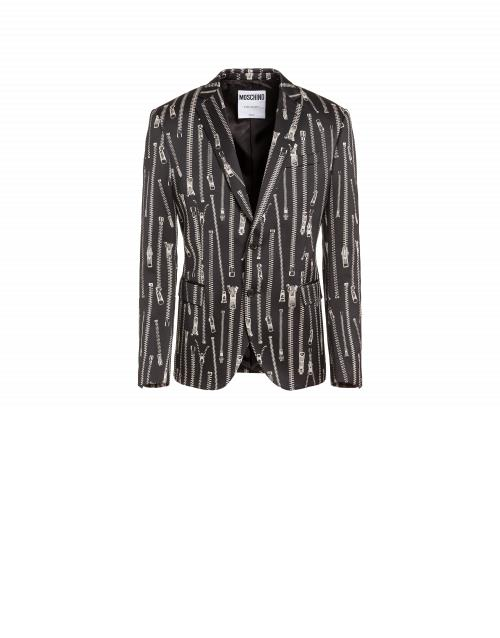 Moschino All Over Jacquard Zip Jacket Man