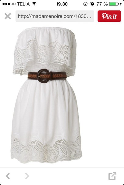 dress lace summer cute strapless white white dress summer dress strapless dress