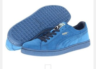 shoes midnight blue puma suede women's sneakers low top sneakers suede sneakers