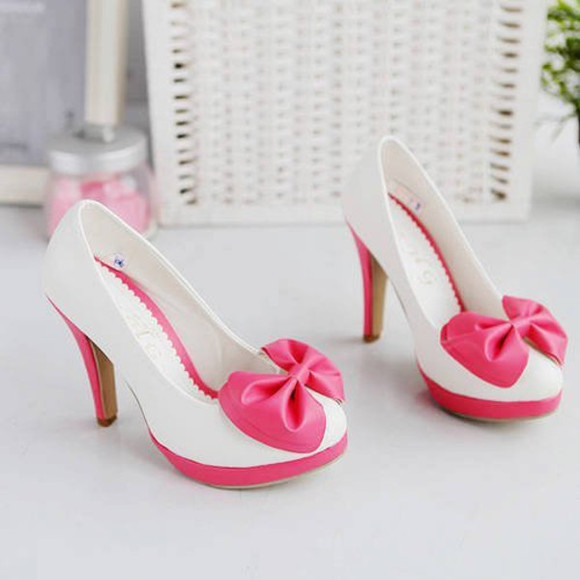 shoes pumps kawaii kawaii heels bow bowknot bowtie bowknot shoes bow heels bowknot heels bow pump kawaii cute pumps cute heels cute bow