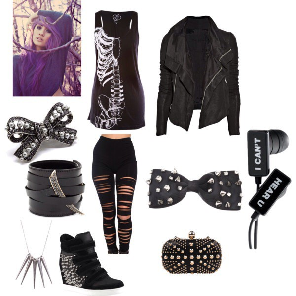 Shoes Tank Top Jacket Bow Bracelets Pants Jeans Leggings Black Skeleton Shirt Leather