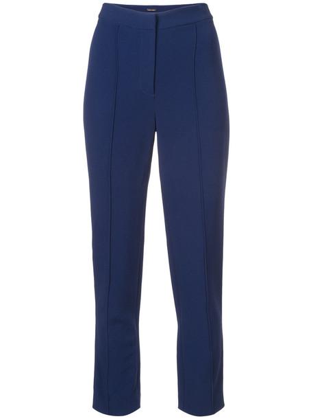 high women spandex blue pants