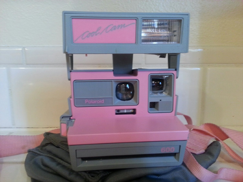 Amazon.com : vintage polaroid pink & gray cool cam 600 instant camera : camera & photo