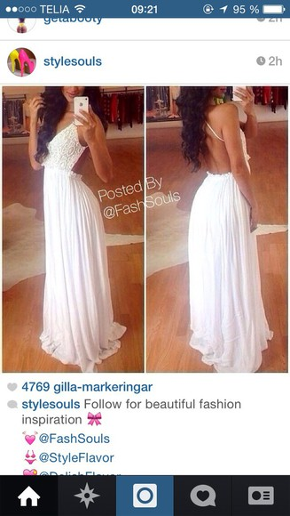 maxi dress maxi white white dress backless dress