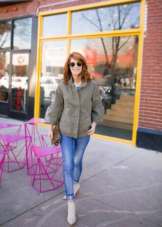themiddlepage blogger jacket top jewels bag shoes sunglasses