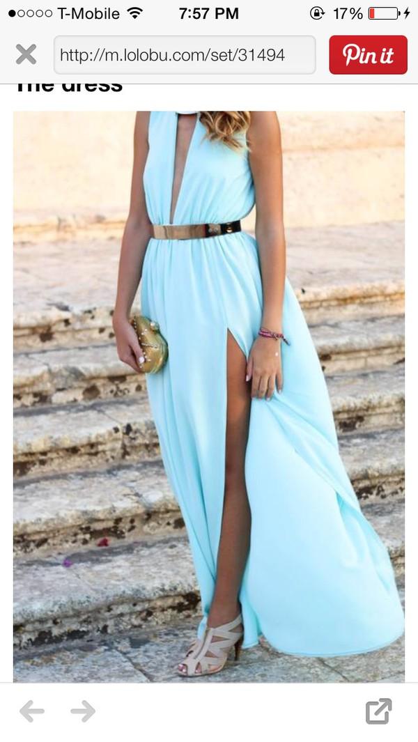 dress light blue dress
