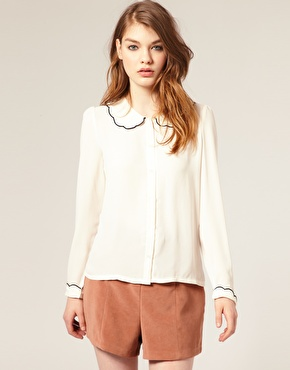 sister jane | sister jane Blouse With Scalloped Peter Pan Collar at ASOS