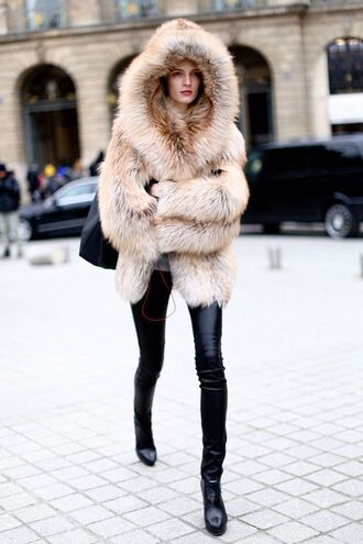 coat faux fur fur warm winter coats warm brown fluffy fuzzy coat hoodie coat faux fur coat fur collar