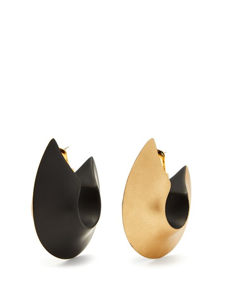 VANDA JACINTHO oversized earrings hoop earrings gold jewels