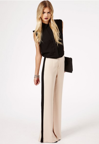 Corabella Contrast Trousers - Trousers - Missguided
