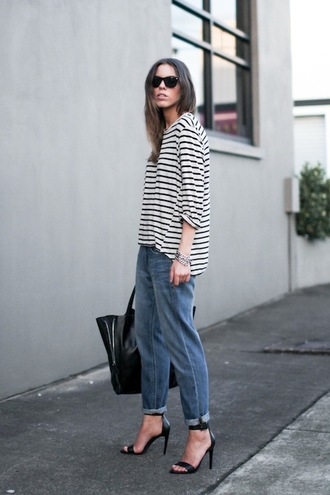 le fashion image blogger sunglasses top bag jeans