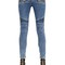 Stretch washed cotton denim biker jeans