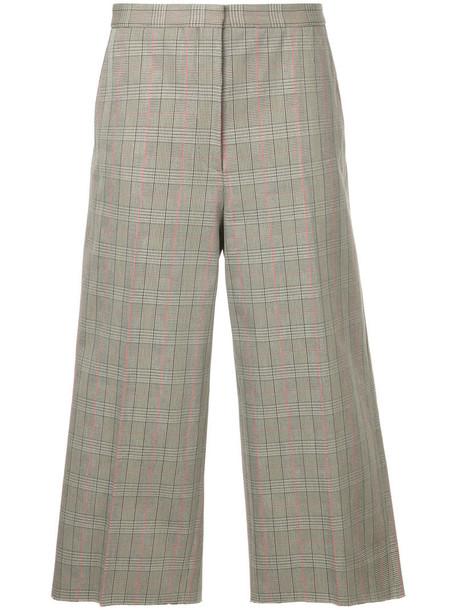 Rochas women plaid cotton pants