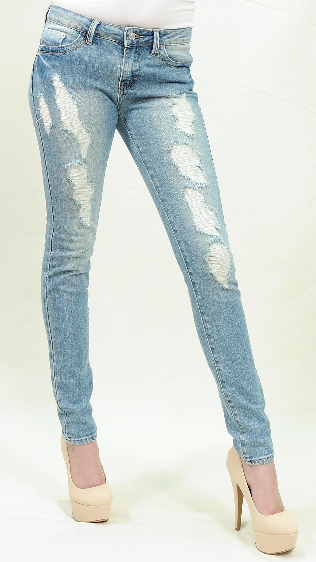 Heavy distressed skinny jeans just usa – pinkracks