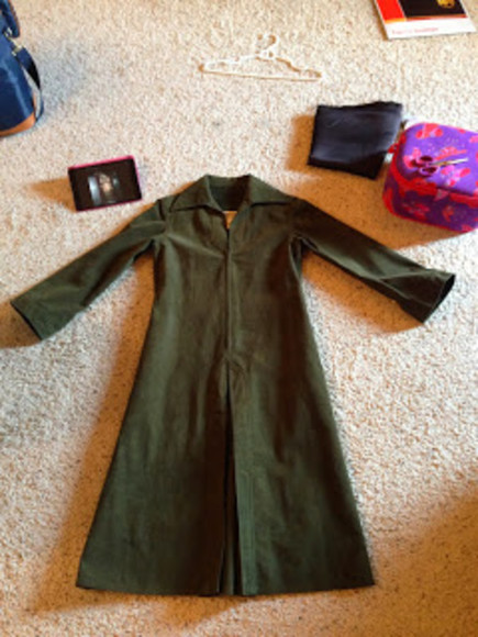 jacket green army green long coat knee length coat knee length