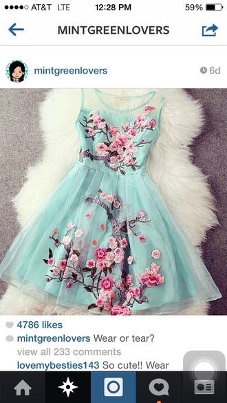 blue dress floral dress arizona tea