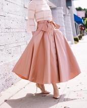 skirt,tumblr,midi skirt,pink skirt,pumps,pointed toe pumps,high heel pumps,nude heels,top,blouse,pink blouse,pink top,all pink everything,all pink wishlist,buttoned skirt