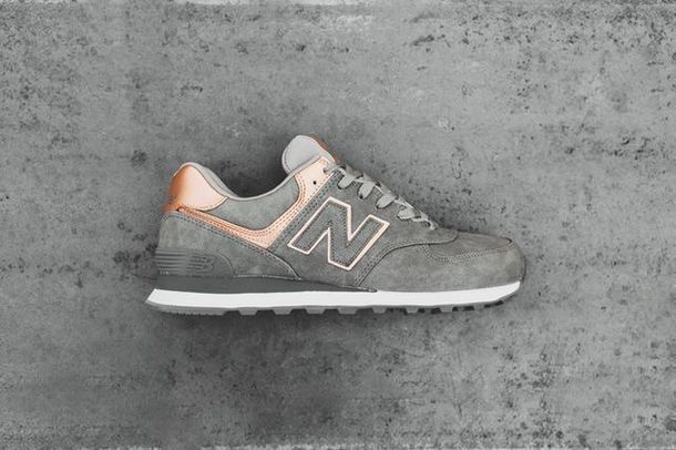 9417ec1073bd2 shoes, grey, rose gold, new balance, trainers - Wheretoget