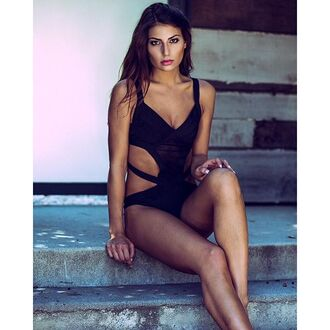 top lace bodysuit bodysuit angl angl clothing shop angl black bodysuit black lace bodysuit cut-out