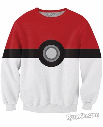 blouse pokemon black withe red geek video games