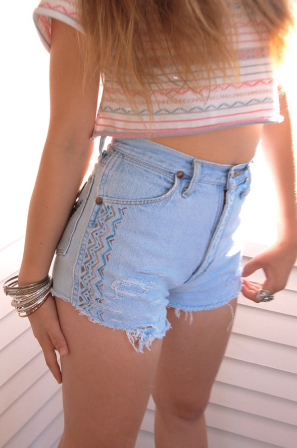 shorts cute aztec shirt