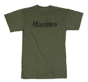 Vintage Marines T-Shirt - Green USMC T-Shirts