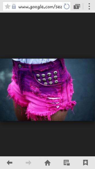 shorts pink and purple pink shorts purple shorts high waisted shorts