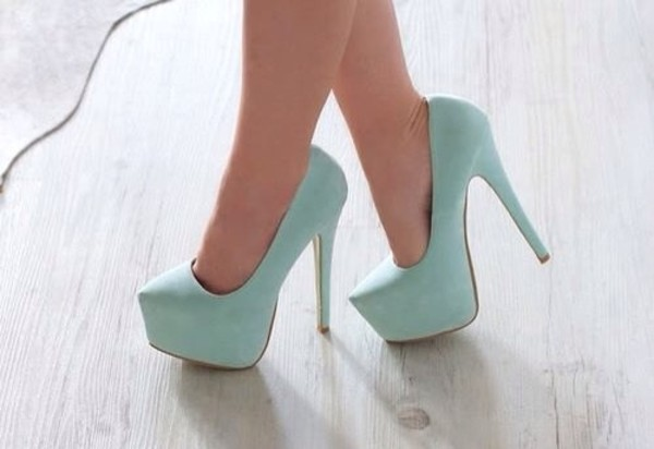 shoes high heels mint mint