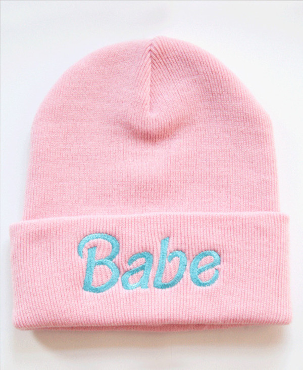 hat babrie babe cool pale beanie pink sweet swag pastel kawaii pastel pink blue pastel blus hipster cute taboggan barbie clothes ootd soft grunge