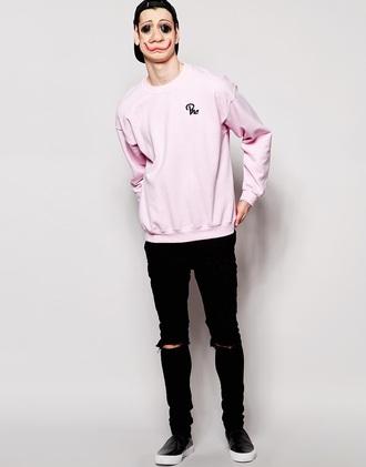 sweater tumblr nike dazedclothing supreme streetwear urban urbanstreetwear stussy pink swearshirt menswear
