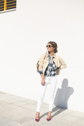 seams for a desire blogger jacket shirt jeans bag jewels shoes sunglasses